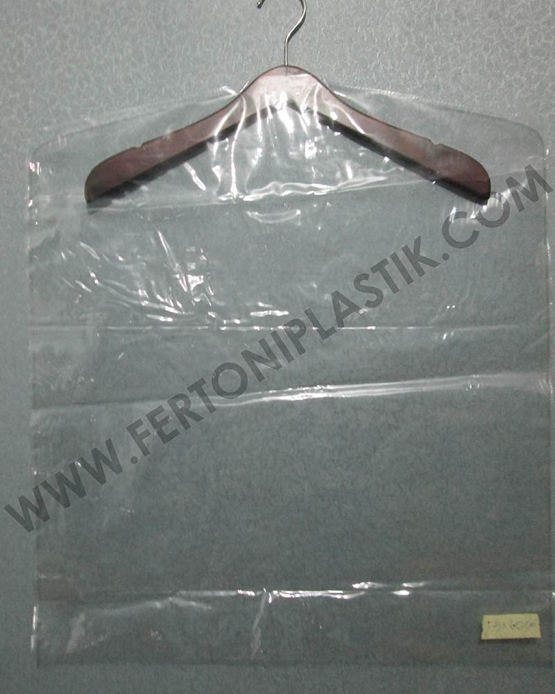 Sampul Cover Baju Plastik Mika PVC