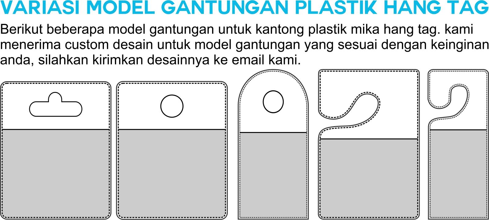 Kantong Plastik Mika PVC Hang Tag